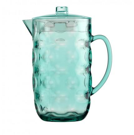 Grand pichet à eau transparent turquoise