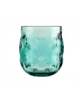 verres à eau turquoise aspect ondulé en mélamine