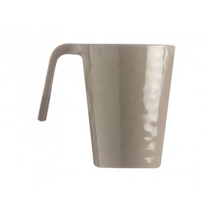 Service de 6 mugs beige avec effet martelé