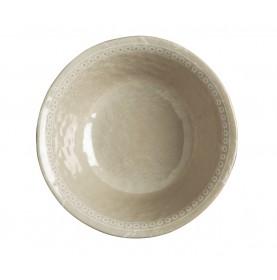 6 assiettes creuses perlŽées effet terre cuite couleur sable