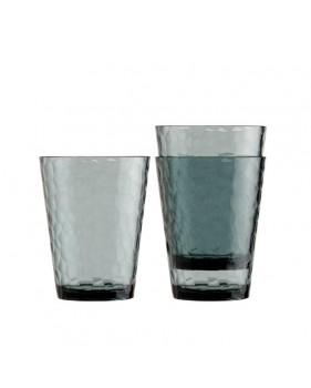 Service de 12 verres à eau effet martelé pour bateau