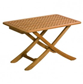 Table pliante en teck 3 positions dim 100 x 60 cm