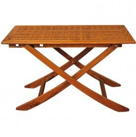 Table pliante en teck 3 positions dim 125 x 80 cm