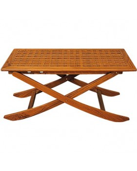 Table pliante en teck 3 positions dim 125 x 80 cm