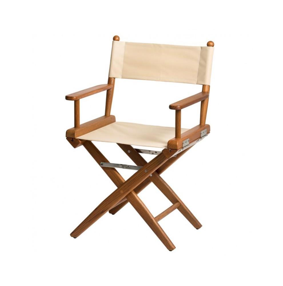 Chaise pliante classique en teck dim 57 x 45 x 89 cm