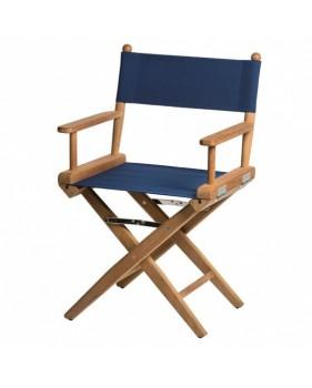 Chaise Metteur en scène classique en teck avec assise marine