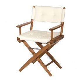 chaise pliante régisseur en tech couleur crème