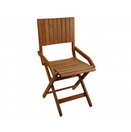 Chaise super pliante en teck