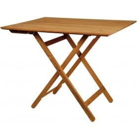 Table super pliante en teck deux positions