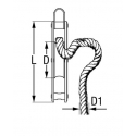 """2 coussins rectangulaires écrus à motif marine - """"FREE STYLE"""""""