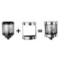 6 tasses et sous-tasse à café blanches & pavillons marins