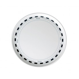 Assiettes plates blanches à motif et pointillés bleu