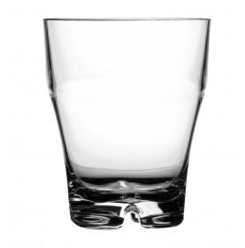 verre à eau évasé empilable transparent en mélamine
