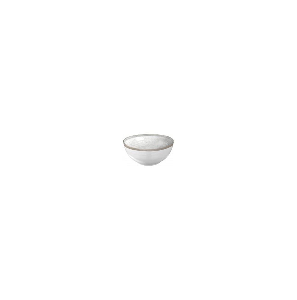 Bol antidérapant beige et blanc imitation porcelaine