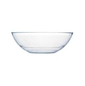 Saladier en verre trempé transparent Ø 26 cm