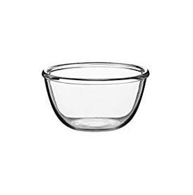 Saladier en verre trempé transparent avec bourlet