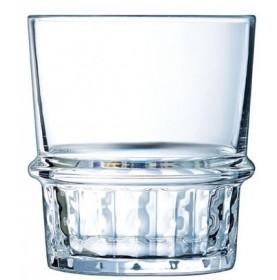 Verre empilable à cannelures en verre trempé
