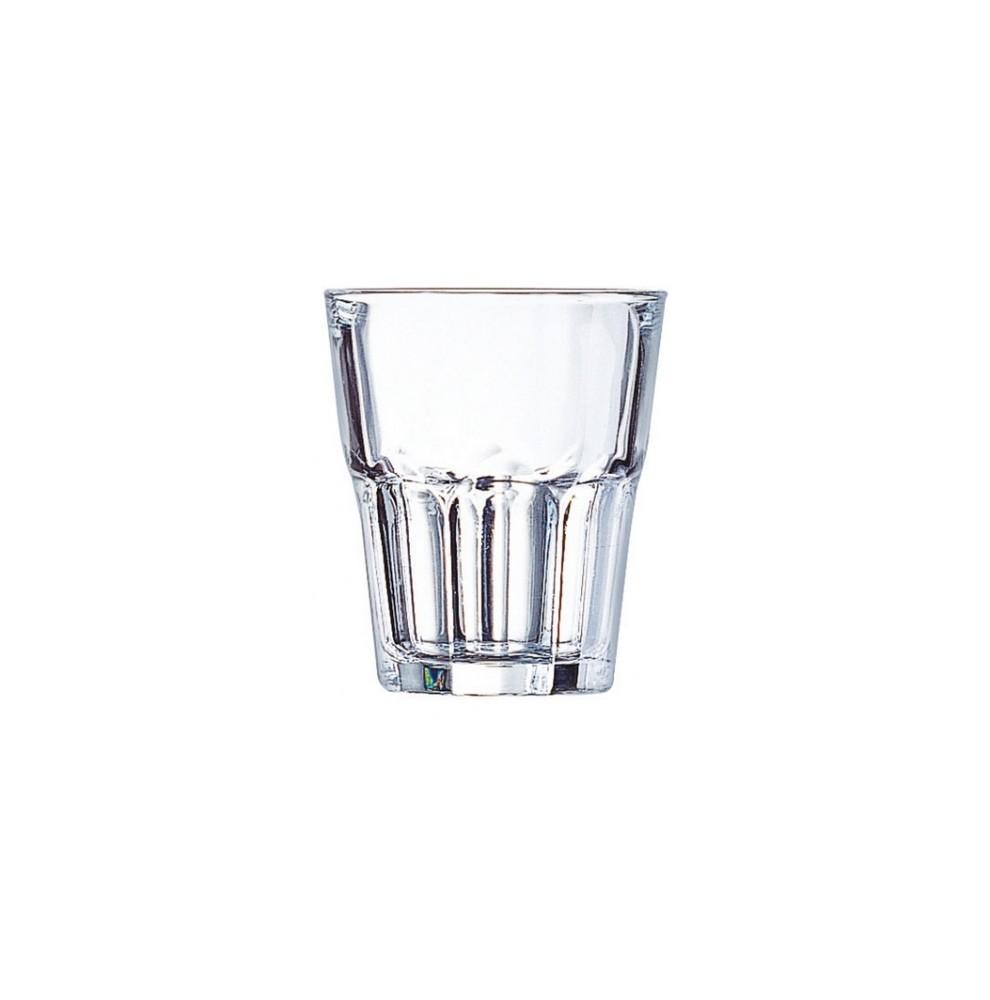 Verre empilable en verre trempé haute résistance de 35 cl