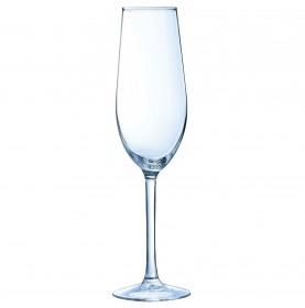 Flûte à champagne verre trempé véritable incassable