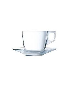 tasse à café transparente en verre véritable