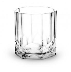 Verre à Whisky transparent à cannelures en tritan de 35 cl