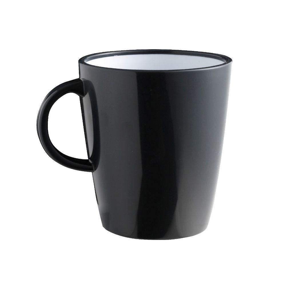 Mug noir incassable en mélamine 30cl