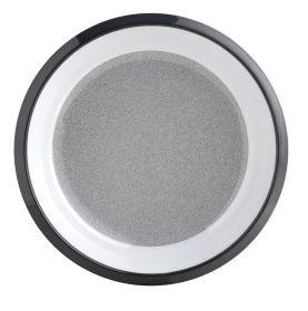 Assiette creuse antidérapante anthracite et blanche Ø 21,5 cm