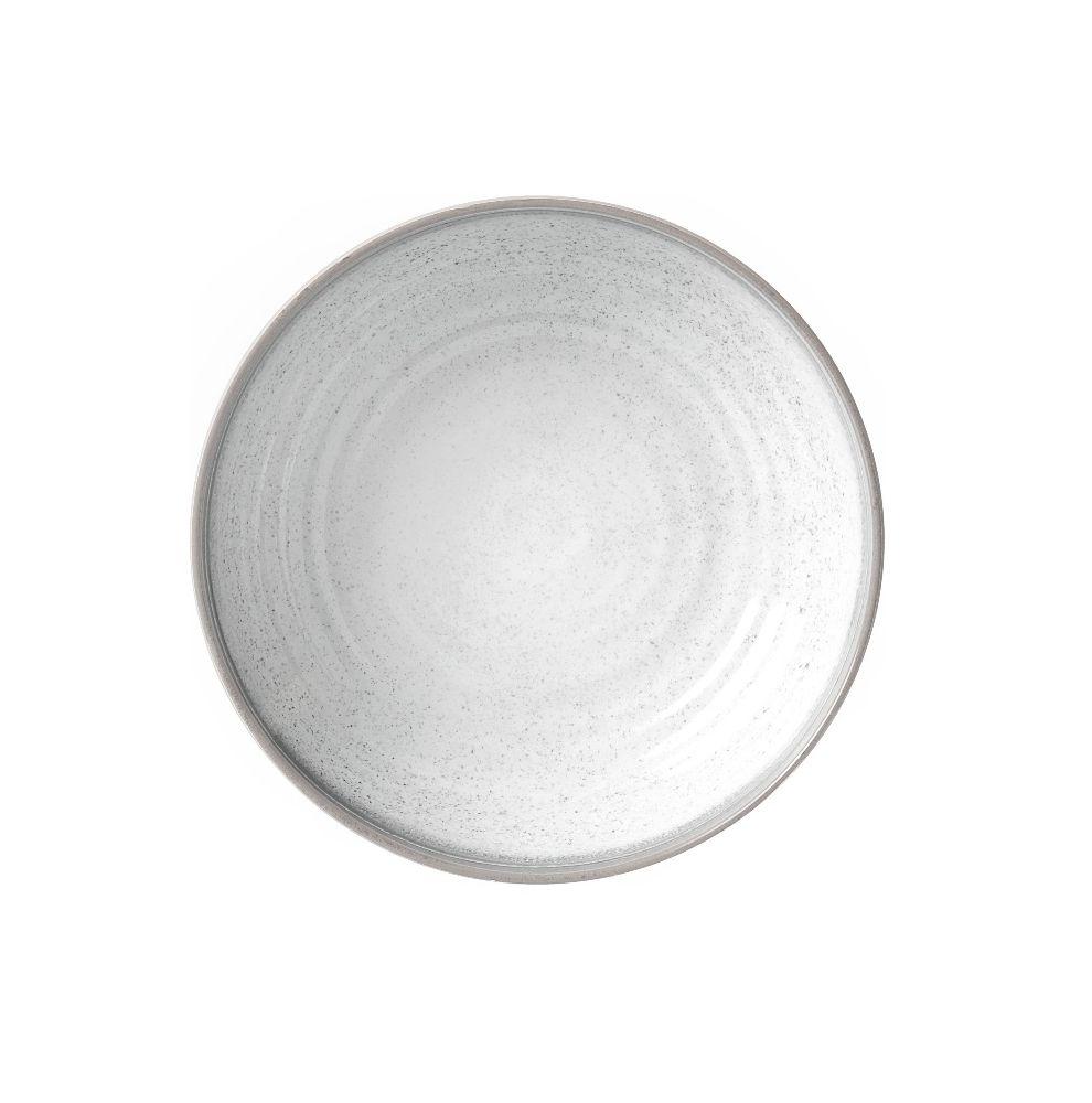 Assiette creuse mélamine aspect céramique