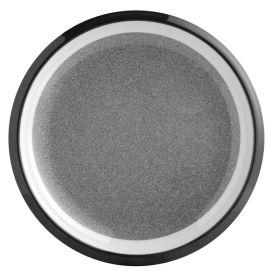 Assiette plate en mélamine antidérapant ton granite Ø 24,5cm
