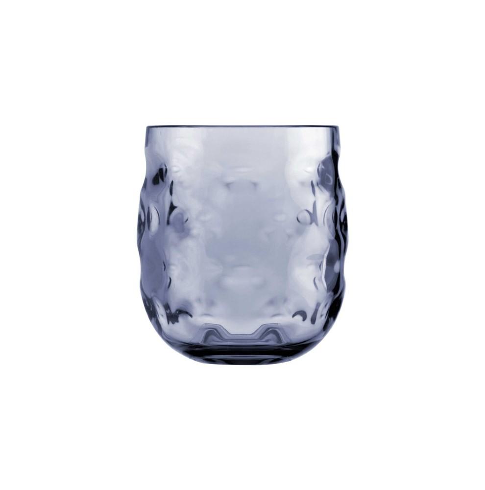 6 verres à eau bleu aspect ondulé en mélamine