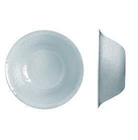 Saladier gris effet martelé et contour perlé en mélamine