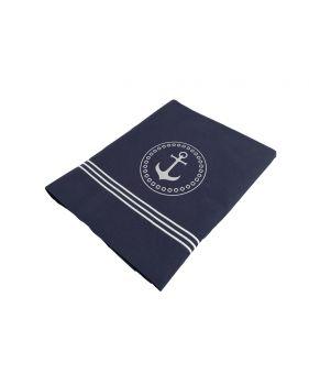 Drap + 2 taies d'oreiller bleus pour lit 2 personnes