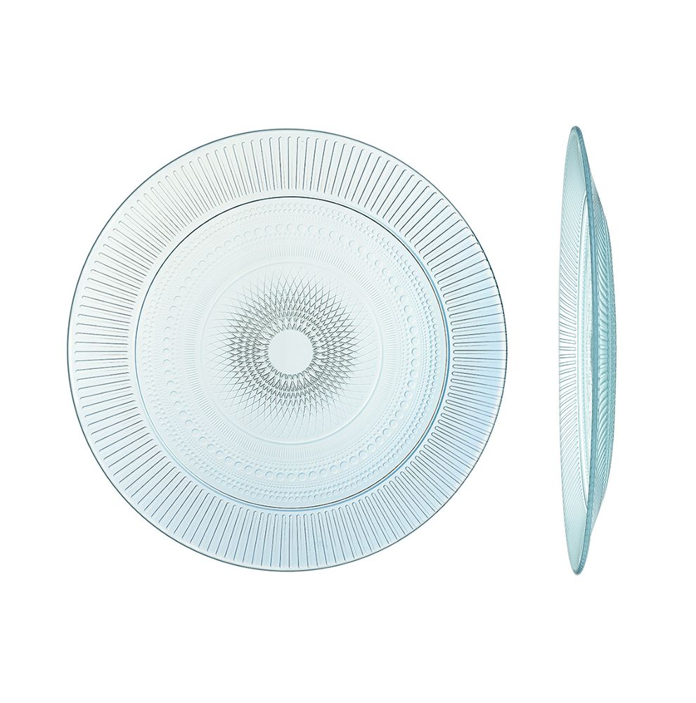 1 assiette plate en verre trempé haute résistance Ø 25cm