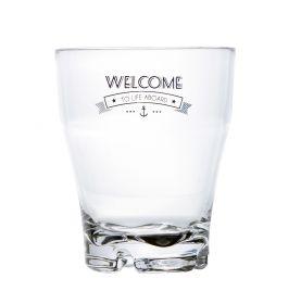 verre à eau évasé empilable et incassable en mélamine