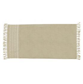 Serviette de plage 100 x 180 cm en 100 % coton beige/taupe