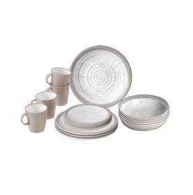 Pack vaisselle incassable pour 4 personnes avec mugs