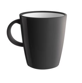 1 mug anthracite incassable en mélamine 30cl