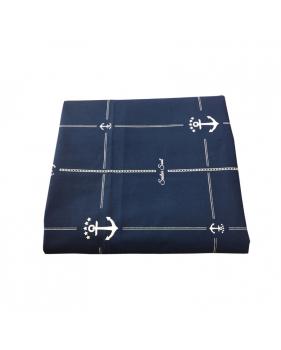 Nappe anti-tâche bleue marine motif ancre