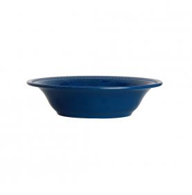 6 assiettes creuses perlées couleur bleu-nuit