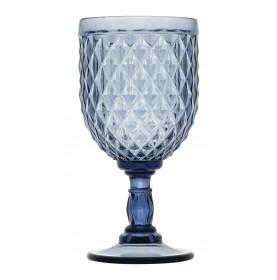 """6 verres à vin de couleur bleu - style """"Graphique"""""""