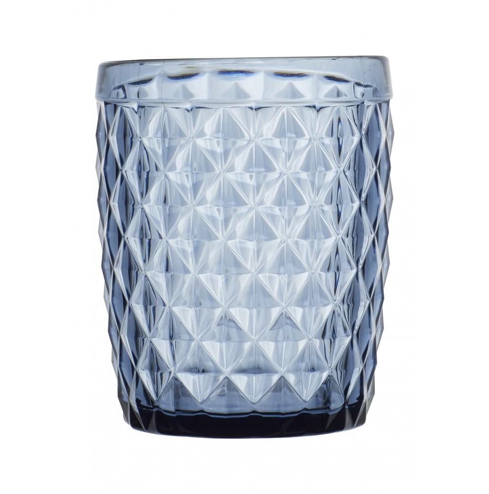 """6 verres à eau couleur bleu - style """"Graphique"""""""