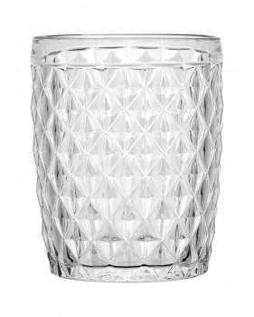 """6 verres à eau transparents - style """"Diamant"""""""