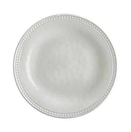 6 assiettes à dessert beiges mélamine à bordure en relief