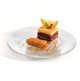 Assiette à dessert en verre trempé haute résistance Ø 19cm