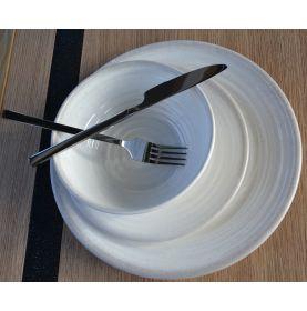1 assiette Ø 21cm en mélamine antidérapante aspect céramique