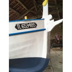 2 paillassons de bateau antidérapants inscriptions multicolores