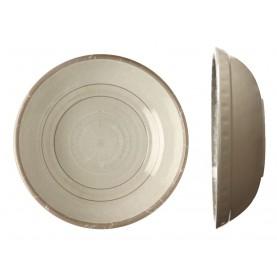 6 assiettes à soupe beiges rose de vents