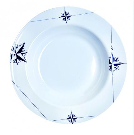 """6 assiettes à soupe rondes - """"NORTHWIND"""""""