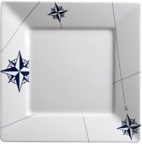 """Assiettes plates carrées grand modèle - """"NORTHWIND"""""""