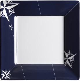 """Assiettes plates carrées petit modèle - """"NORTHWIND"""""""